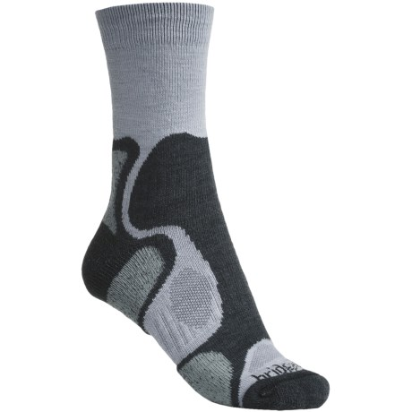Bridgedale X-Hale Trailblaze Socks - Merino Wool, Crew (For Women) in Grey/Jade