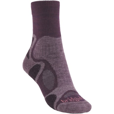 Bridgedale X-Hale Trailblaze Socks - Merino Wool, Crew (For Women) in Purple/Dark Purple
