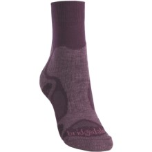 Bridgedale X-Hale Trailblaze Socks - Merino Wool, Crew (For Women) in Purple/Dark Purple - 2nds