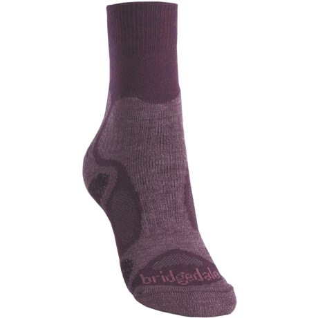 Bridgedale X-Hale Trailblaze Socks - Merino Wool, Crew (For Women) in Plum