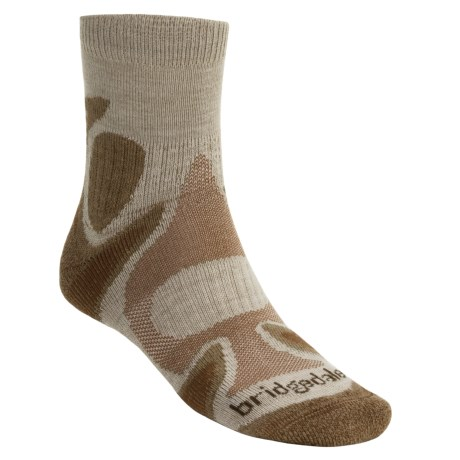 Bridgedale X-Hale Trailhead Socks (For Men and Women) in Tan / Brown