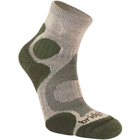 Bridgedale X-Hale Trailhead Socks  (For Women) in Grey/Raspberry