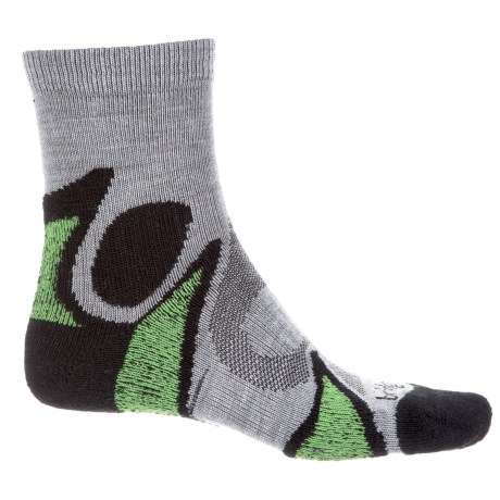 Bridgedale X-Hale Trailhead Socks - Merino Wool, Quarter Crew (For Men and Women) in Black/Grey