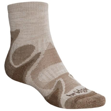 Bridgedale X-Hale Trailhead Socks - Merino Wool, Quarter Crew (For Men and Women) in Chino/Rope