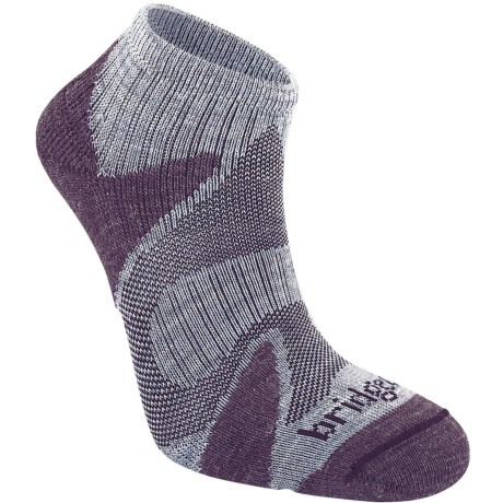 Bridgedale Xhale Cool Socks (For Men and Women) in Heather/Plum