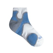 Bridgedale Xhale Speed Diva Socks (For Women) in White /Bright Blue / Grey - 2nds
