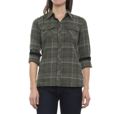 Image of Bridget Twill Flannel Shirt - UPF 50+, Long Sleeve (For Women)