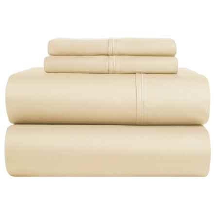 Brielle Cotton Sateen Sheet Set - King, 380 TC in Cream - Closeouts