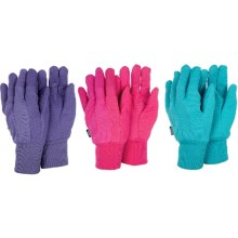 Briers Garden Gloves with Grip Dots - 3-Pack in Jersey Lavendar/Pink/Blue - Closeouts