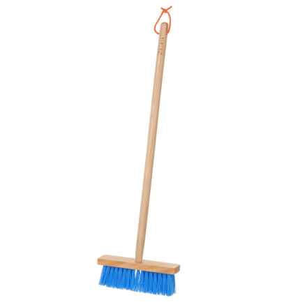 Briers Kids Long Wood Handle Sweeping Brush in Blue - Closeouts