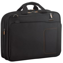 Briggs & Riley Amplify Expandable Briefcase in Black - Closeouts