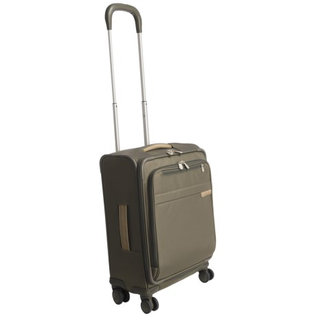 "Briggs & Riley Baseline Wide-Body Spinner Suitcase - 20"", Carry-On in Olive"