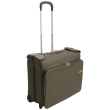 Briggs & Riley Deluxe Wheeled Garment Bag in Olive - Closeouts