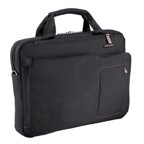 Briggs & Riley Groove Slim Briefcase in Black