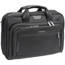 Briggs & Riley Medium Executive Clamshell Briefcase in Black - Closeouts