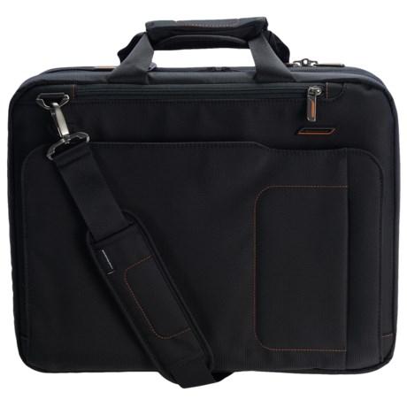 Briggs & Riley Medium Mach Speedthru Briefcase in Black