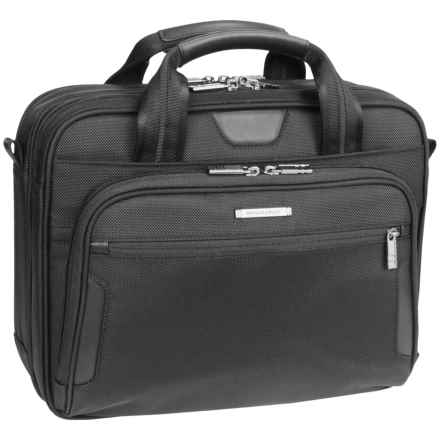 Briggs & Riley Small Briefcase in Black - Closeouts