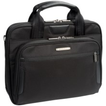 Briggs & Riley Small Slim Briefcase in Black - Closeouts