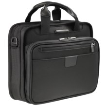 Briggs & Riley Small Slim Clamshell Briefcase in Black - Closeouts