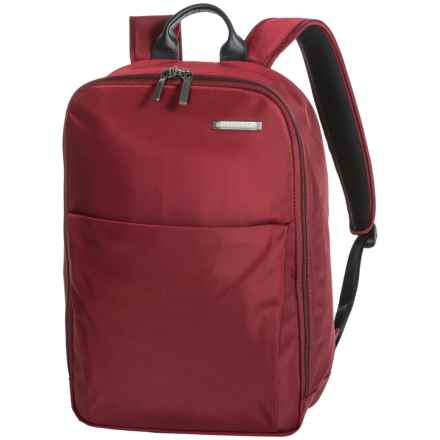 Briggs & Riley Sympatico Carry-On Backpack in Burgundy - Closeouts