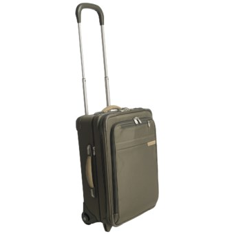 "Briggs & Riley U-Zip Expandable Upright Wheeled Suitcase - 20"", Carry-On in Olive"