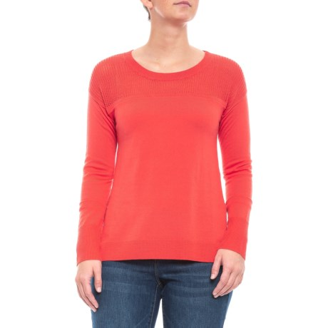 Image of Bright Coral Jacinta Sweater - Merino Wool (For Women)