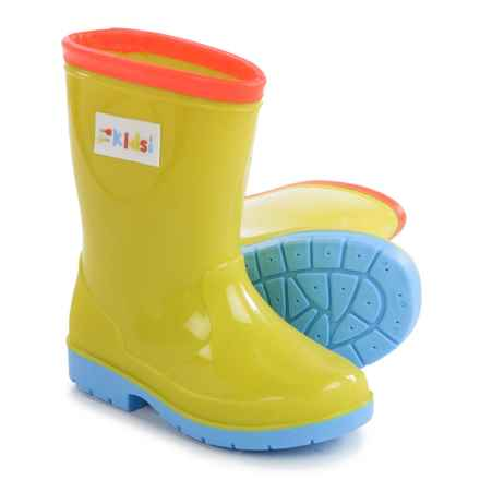 Bright Wellington Rain Boots (For Kids) in Multi - Closeouts
