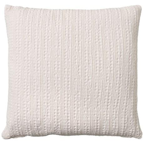 Image of Bright White Stonewash Waffled Throw Pillow - 18x18? Feathers