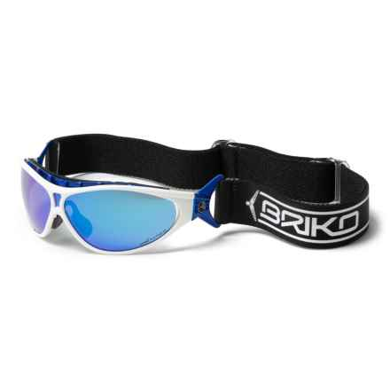 Briko Dart Racing Duo-Sport Sunglasses - Polarized, Extra Lens (For Men and Women) in White Royal - Closeouts