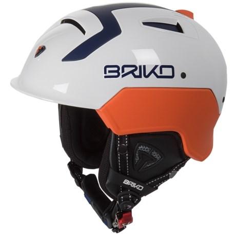 Briko Etna Ski Helmet in White Ash/Orange