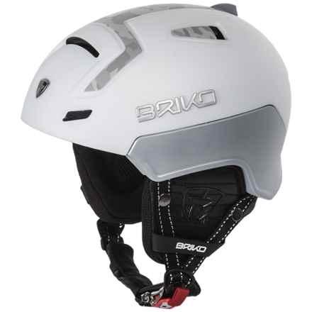Briko Hierro Ski Helmet in Matte White/Gray Camo - Closeouts