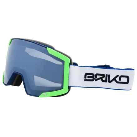 Briko Lava 7.6 Ski Goggles in Green/Blue Sky/Nastek Sapphire - Closeouts