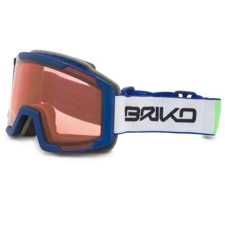 Briko Lava Jr. Ski Goggles (For Big Boys and Girls) in Green Blue Sky/Tharma Red - Closeouts