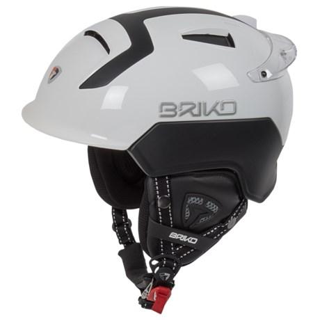 Briko Mongibello Ski Helmet in White Ash/Black