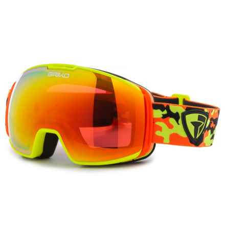 Briko Nyria Free Fighter 7.6 Ski Goggles (For Men and Women) in Matte Floral Yellow/Orange/Rm3 - Closeouts