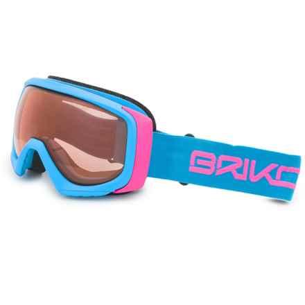 Briko Sniper OTG Ski Goggles (For Women) in Light Blue/Pink/Tharma Red - Closeouts