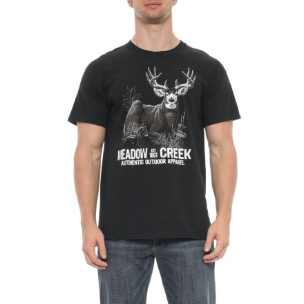 ab95cf2e66d Brisco Apparel Co Buck T-Shirt - Short Sleeve (For Men) in Black