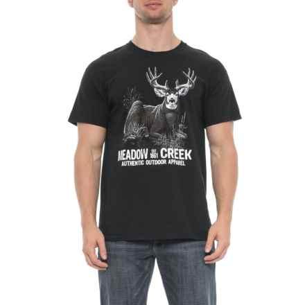 Brisco Apparel Co Buck T-Shirt - Short Sleeve (For Men) in Black - Overstock