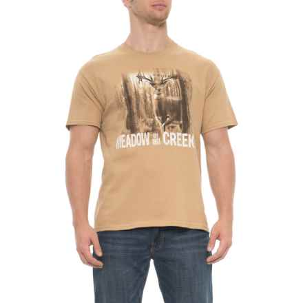Brisco Apparel Co Deer T-Shirt - Short Sleeve (For Men) in Brown - Overstock