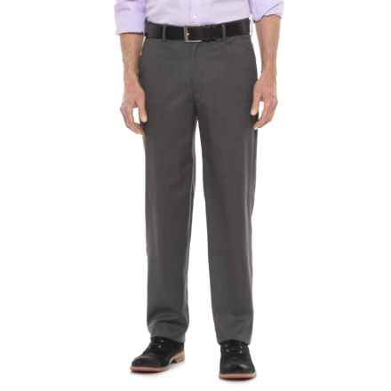 Britches Flat Front Adjustable Waistband Pants (For Men) in Grey - Closeouts