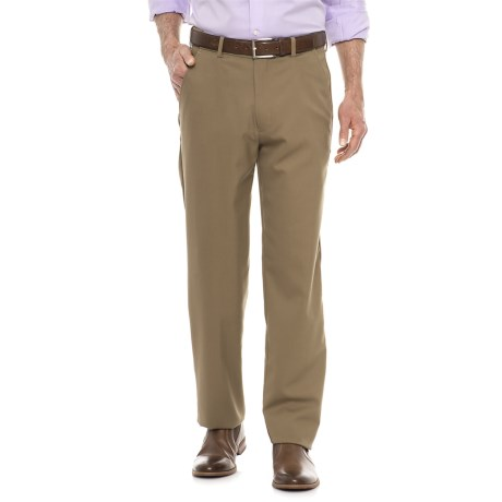 Britches Flat Front Adjustable Waistband Pants (For Men)