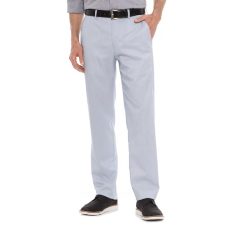 Britches Pincord Flat Front Pants (For Men) in Blue/White