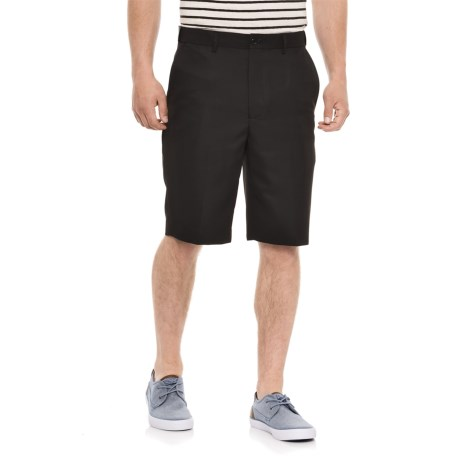 Britches Solid Flex Waistband Shorts (For Men) in Black