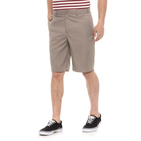 Britches Solid Flex Waistband Shorts (For Men) in Light Grey