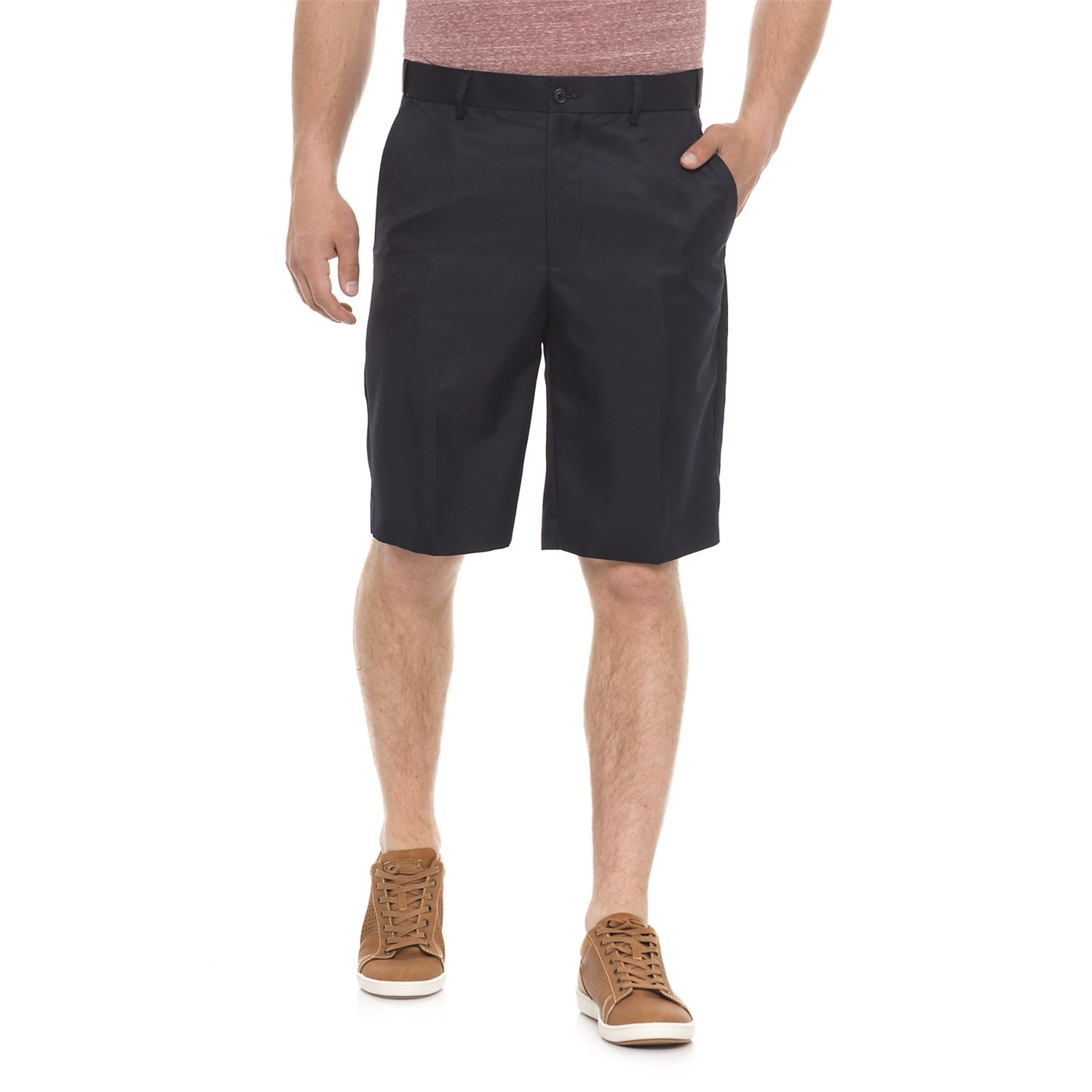 Britches Solid Flex Waistband Shorts (For Men)