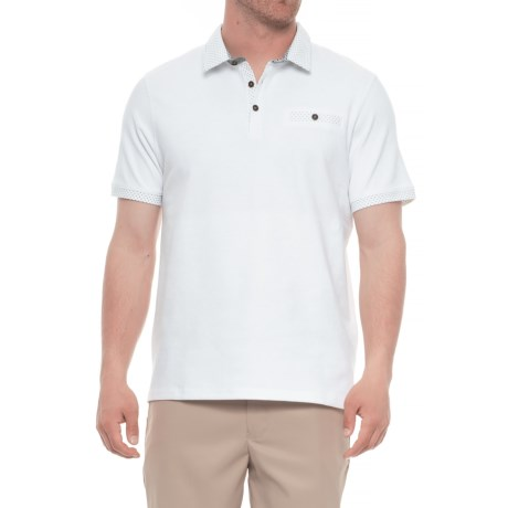 Britches Sport Peter Pop Polo Shirt - Short Sleeve (For Men) in White