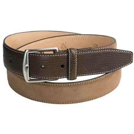 Broderick Suede Belt (For Men) in Tobacco - Closeouts
