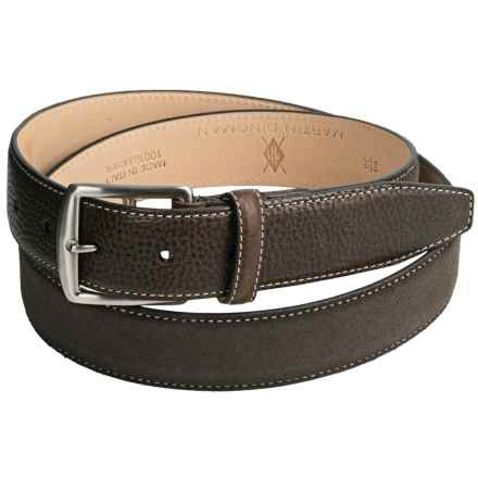 Broderick Suede Belt (For Men) in Walnut - Closeouts