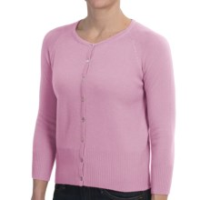 Brodie Cashmere Cardigan Sweater - Lace Back (For Women) in Pink Blossom - Closeouts
