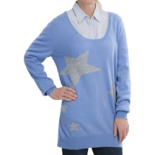 Brodie Cashmere Tunic Sweater (For Women) in Little Boy Blue - Closeouts